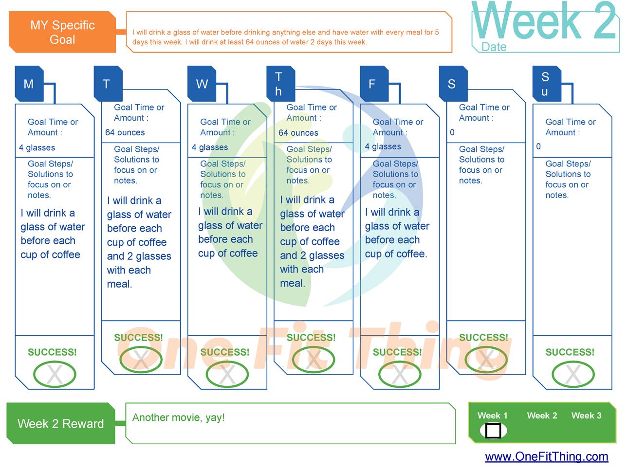 SMART Goal Tool - Week 2 Example